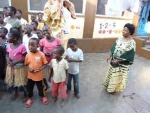 Freizeit- Kinder beim Tanzen