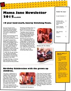 Mama Jane Newsletter 2015