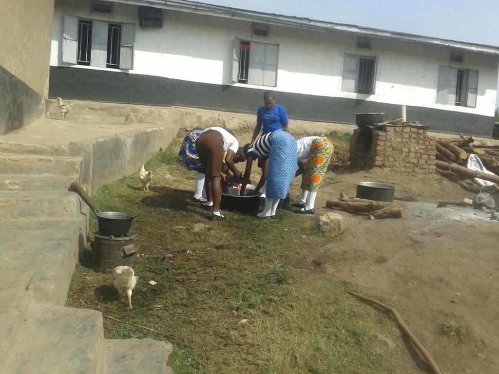Waschen am Hof
