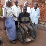 Ausgabe eines Rollstuhls